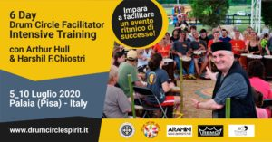 6 day Drum Circle FAcilitator Intensive . Training with Arthur Hull in Italy